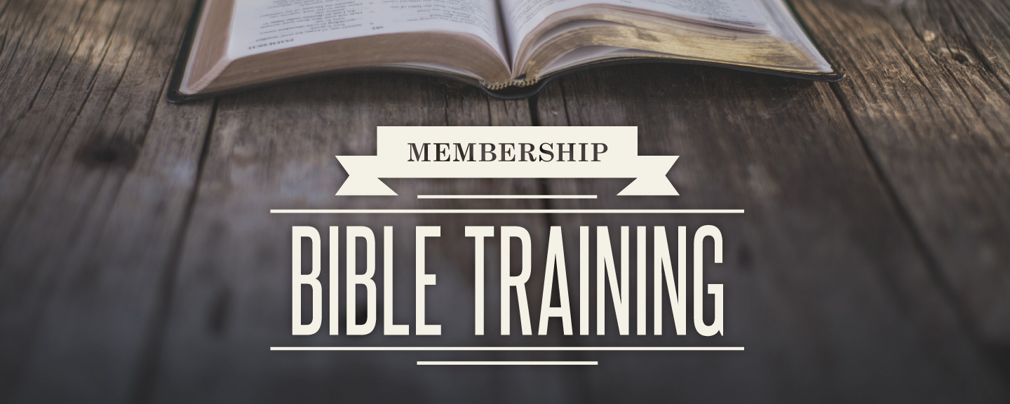 Register for Brookfield Church's Membership Bible Training